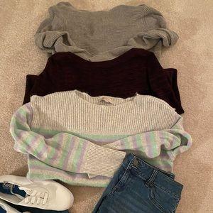 Bundle of 3 Name Brand Sweaters